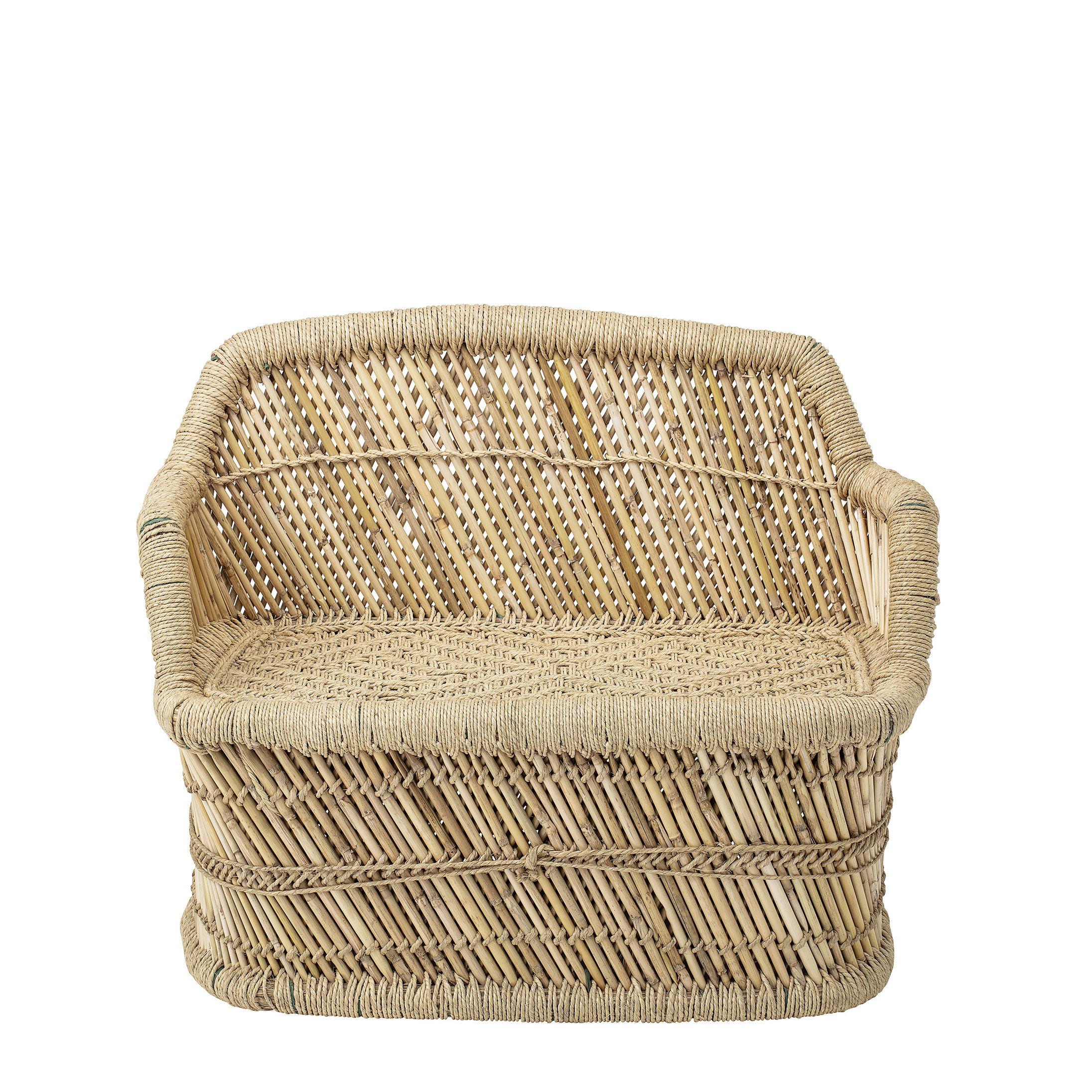 Furniture - Kids Furniture - Children's sofa - / Bamboo & hessian - L 61 cm by Bloomingville - Natural - Bamboo, Hessian