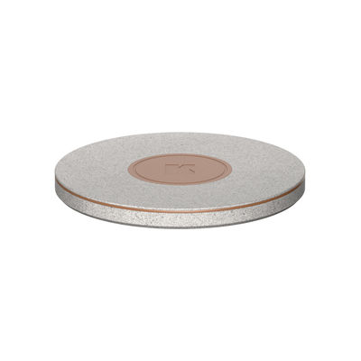Accessories - High Tech Accessories - wiCHARGE CARE induction charger - / QI - Ø 10 cm by Kreafunk - Speckled grey - Leather, Metal, Plastic, Wheat straw fibre