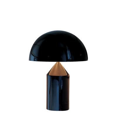 Illuminazione - Lampade da tavolo - Lampada da tavolo Atollo Medium - Metallo / H 50 cm / Vico Magistretti, 1977 di O luce - Noir - alluminio verniciato