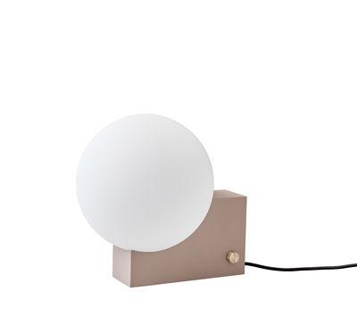 Image of Lampada da tavolo Journey SHY1 - / Applique - H 24 cm di &tradition - Base : argile - Abat-jour : blanc - Câble : noir - Metallo