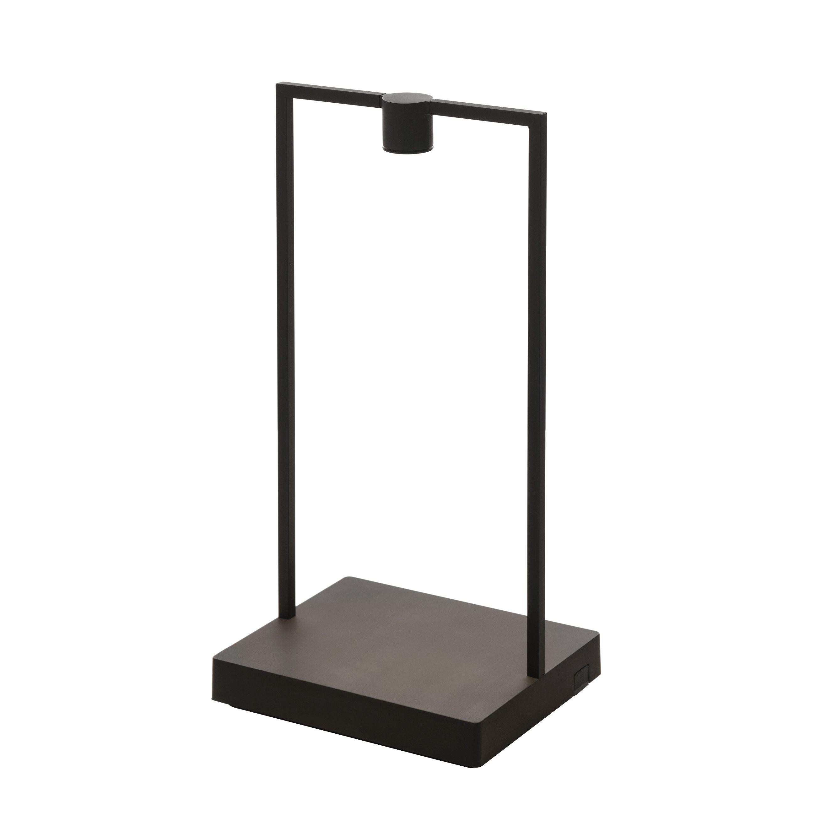 Illuminazione - Lampade da tavolo - Lampada senza fili Curiosity LED - / L 18 x H 35 cm di Artemide - Nero / Base legno scuro - Alluminio