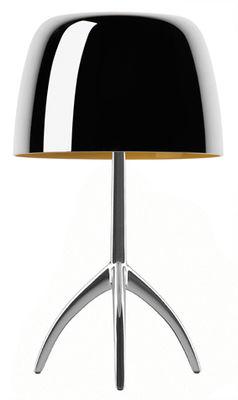 Lampe de table Lumière Grande / Variateur - H 45 cm - Edition 25 ans - Foscarini aluminium poli en métal