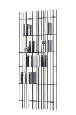 Image of Libreria Metrica wall A - / Struttura acciaio di Mogg - Marrone/Metallo - Metallo/Vetro