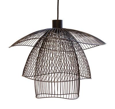 Leuchten - Pendelleuchten - Papillon Small Pendelleuchte / Ø 56 cm - Forestier - Schwarz - thermolackierter Stahl