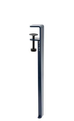 Pied avec fixation étau / H 43 cm - Pour créer tables basse & banc - TIPTOE bleu en métal