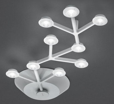 Luminaire - Luminaires iconiques  - Plafonnier LED NET / Linéaire - L 66 cm - Artemide - Blanc - Aluminium peint, Méthacrylate