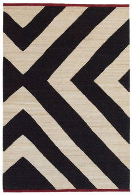 Decoration - Rugs - Mélange Zoom Rug - 200 x 300 cm by Nanimarquina - Black & white / Zebra - Afghan wool