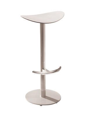 Image of Sgabello bar Coma - h 69 cm di Enea - Grigio/Nero - Metallo/Materiale plastico
