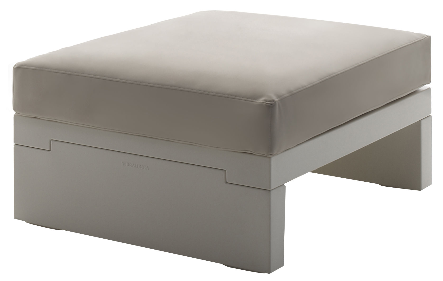 Möbel - Sitzkissen - Bellini Hour Sitzkissen - Serralunga - Gestell elfenbeinfarben / Kissen cremefarben - Gewebe, Polyäthylen