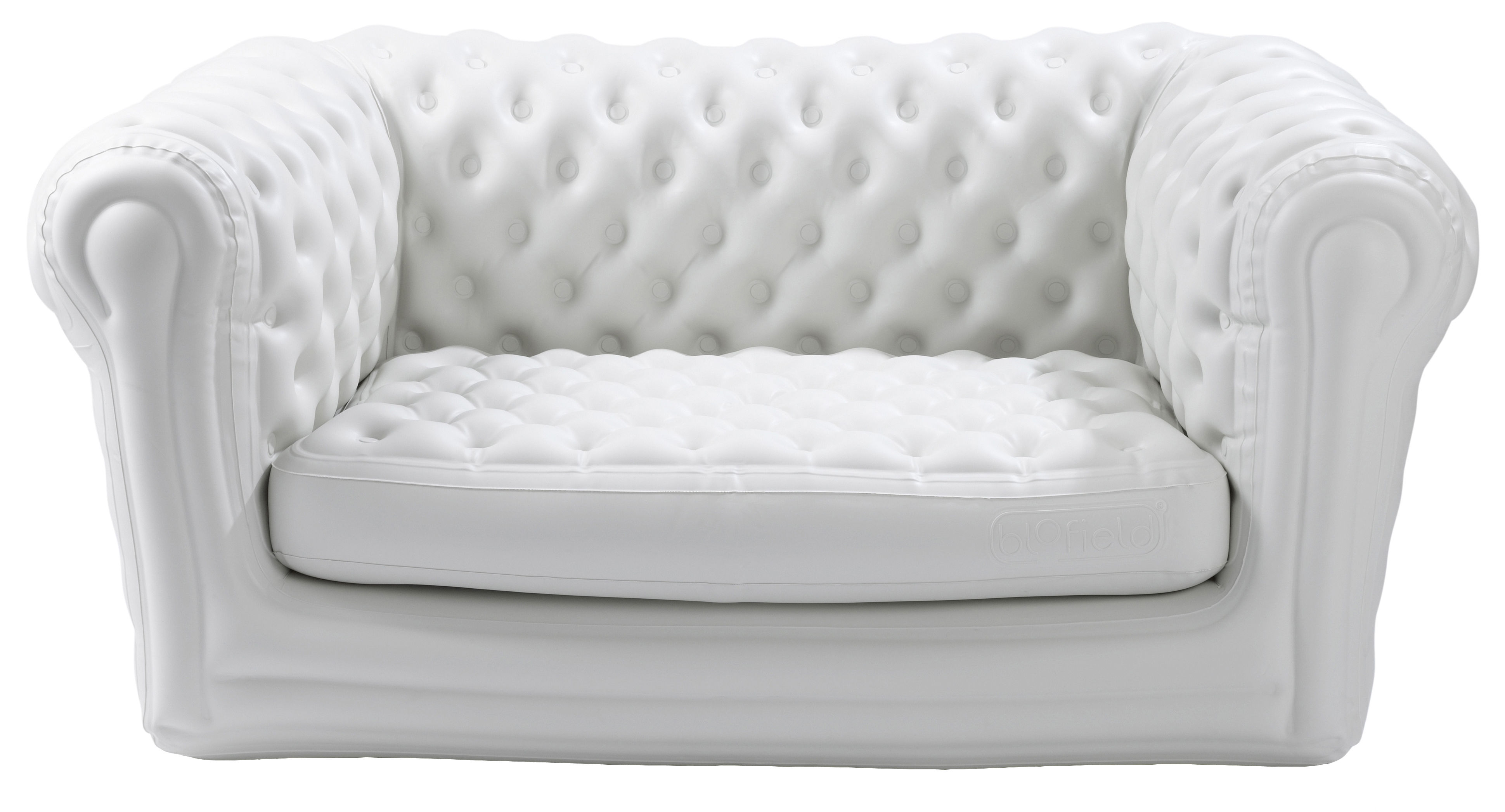 Furniture - Sofas - Big Blo 2 Straight sofa - Inflatable- 2 seats by Blofield - White - Nylon, PVC