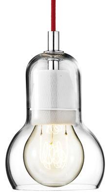 Luminaire - Suspensions - Suspension Bulb Ø 11 cm - Cordon rouge - &tradition - Transparent / câble rouge - Verre soufflé bouche