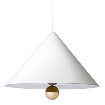Suspension Cherry / Large - Ø 50 cm - Petite Friture blanc,or en métal