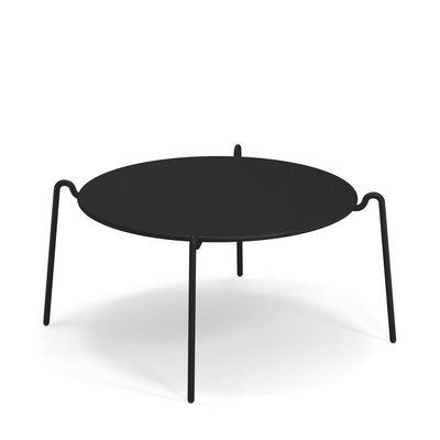 Table basse Rio R50 / Ø 104 cm - Métal - Emu noir en métal