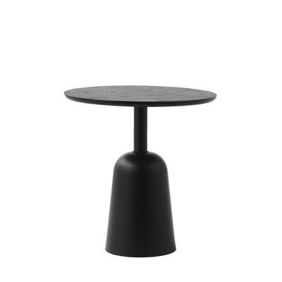 Table basse Turn / Hauteur réglable de 41 à 64 cm / Ø 55 cm - Normann Copenhagen noir en métal/bois