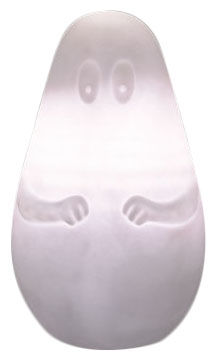 Decoration - Children's Home Accessories - Barbapapa Table lamp - H 45 cm by Leblon-Delienne - White - Polythene