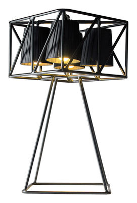 Lighting - Table Lamps - Multilamp Table lamp by Seletti - Black - Fabric, Painted metal