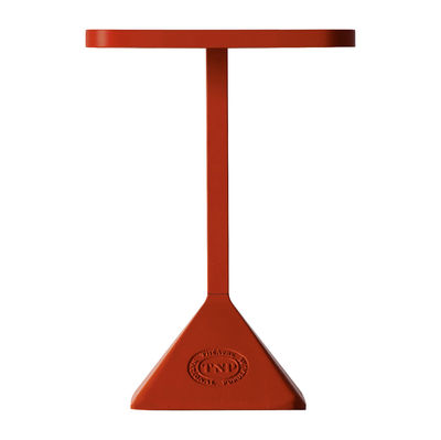 Table rectangulaire TNP / 70 x 50 cm - Kristalia rouge en métal