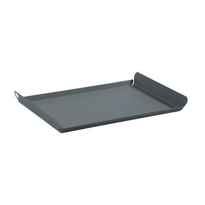 Tischkultur - Tabletts - Alto Tablett / Stahl - 36 x 23 cm - Fermob - Gewittergrau - Stahl, verzinkt