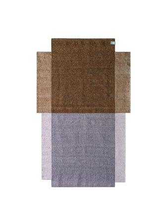 Interni - Tappeti - Tappeto Nobsa Small - / 214 x 130 cm di ames - Ocra & rosa - Lana vergine