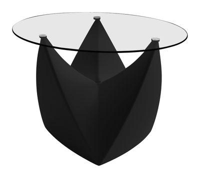 Arredamento - Tavolini  - Tavolino Mr. LEM di MyYour - Nero - Piano trasparente - Polietilene rotostampato, Vetro
