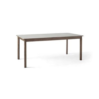 Arredamento - Tavoli - Tavolo con prolunga Patch HW1 - / Laminato Fenix - L 180 a 280 cm di &tradition - Grigio / Rovere fumé - Rovere massello affumicato, Stratifié mat Fenix NTM®