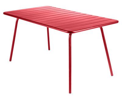 Life Style - Tavolo rettangolare Luxembourg - Rettangolare di Fermob - papavero - Alluminio laccato