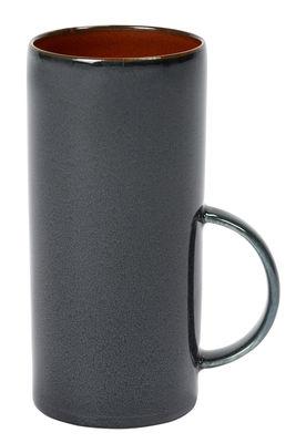 Tableware - Coffee Mugs & Tea Cups - Terres de rêves Teacup - / Sandstone – H 13cm by Serax - Dark blue - Enamelled sandstone