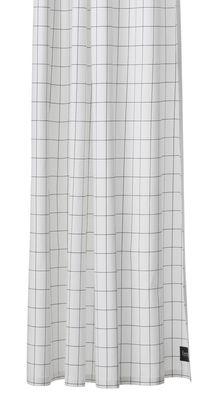 Accessori moda - Accessori bagno - Tenda per doccia Grid - / 160 x H 200 cm di Ferm Living - Quadrettatura / Bianco & nero - Cotone impermeabilizzato