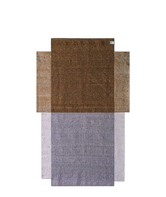 Dekoration - Teppiche - Nobsa Small Teppich / 214 x 130 cm - ames - Ockerfarben & rosa - Laine vierge