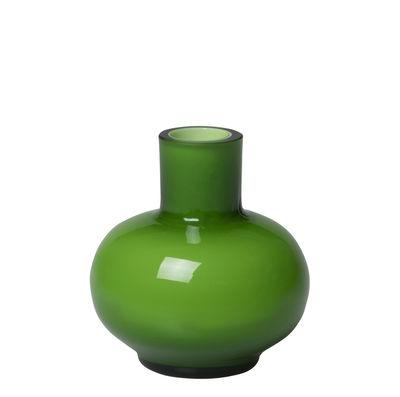 Decoration - Vases - Mini Vase - / Glass - Ø 5.5 x H 6 cm by Marimekko - Green - Mouth blown glass