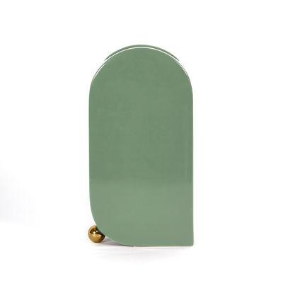 Image of Vaso Eos Large - / L 16 x H 30 cm - Ceramica dipinta a mano di ENOstudio - Verde - Ceramica