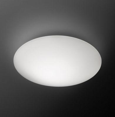 Lighting - Wall Lights - Puck LED Wall light - Ceiling lamp - Ø 16 cm by Vibia - Ø 16 cm / White - Blown glass
