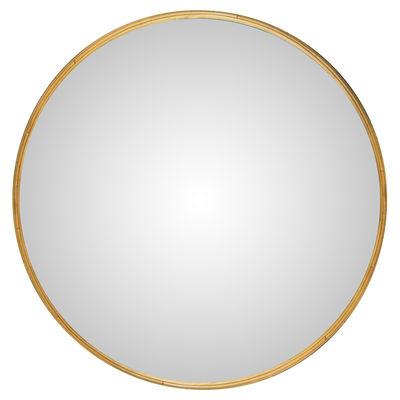 Decoration - Mirrors - Bulle Large Wall mirror - / Ø 120 cm / Rattan by Maison Sarah Lavoine - Natural rattan - Glass, Rattan