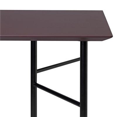 Arredamento - Mobili da ufficio - Accessorio tavolo - / Per cavalletti Ming Large - 160 x 90 cm di Ferm Living - Piano / Bordò - Linoleum, MDF