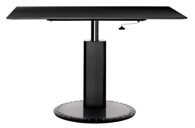 Furniture - High Tables - 360° Adjustable height table by Magis - Black - Aluminium, Cast iron, Varnished MDF
