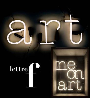 Applique con presa Neon Art - Lettera F di Seletti - Bianco - Vetro