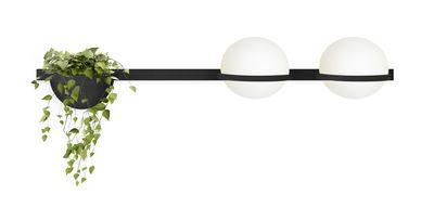 Applique Palma / Horizontale double & jardinière - Vibia laqué graphite mat en métal