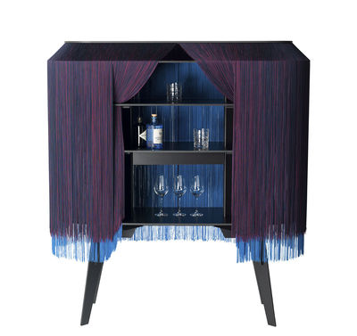 Furniture - Miscellaneous furniture - Alpaga Bar - / Dresser - L 140 cm - Limited numbered edition by Ibride - Twilight / Purple - Solid stratified layers, Viscose