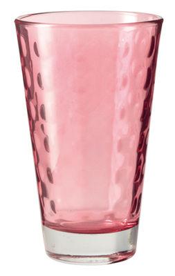 Image of Bicchiere long drink Optic / H 13 x Ø 8 cm - 30 cl - Leonardo - Rubino - Vetro