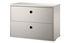 Caisson String® System / 2 tiroirs - L 58 x P 30 cm - String Furniture