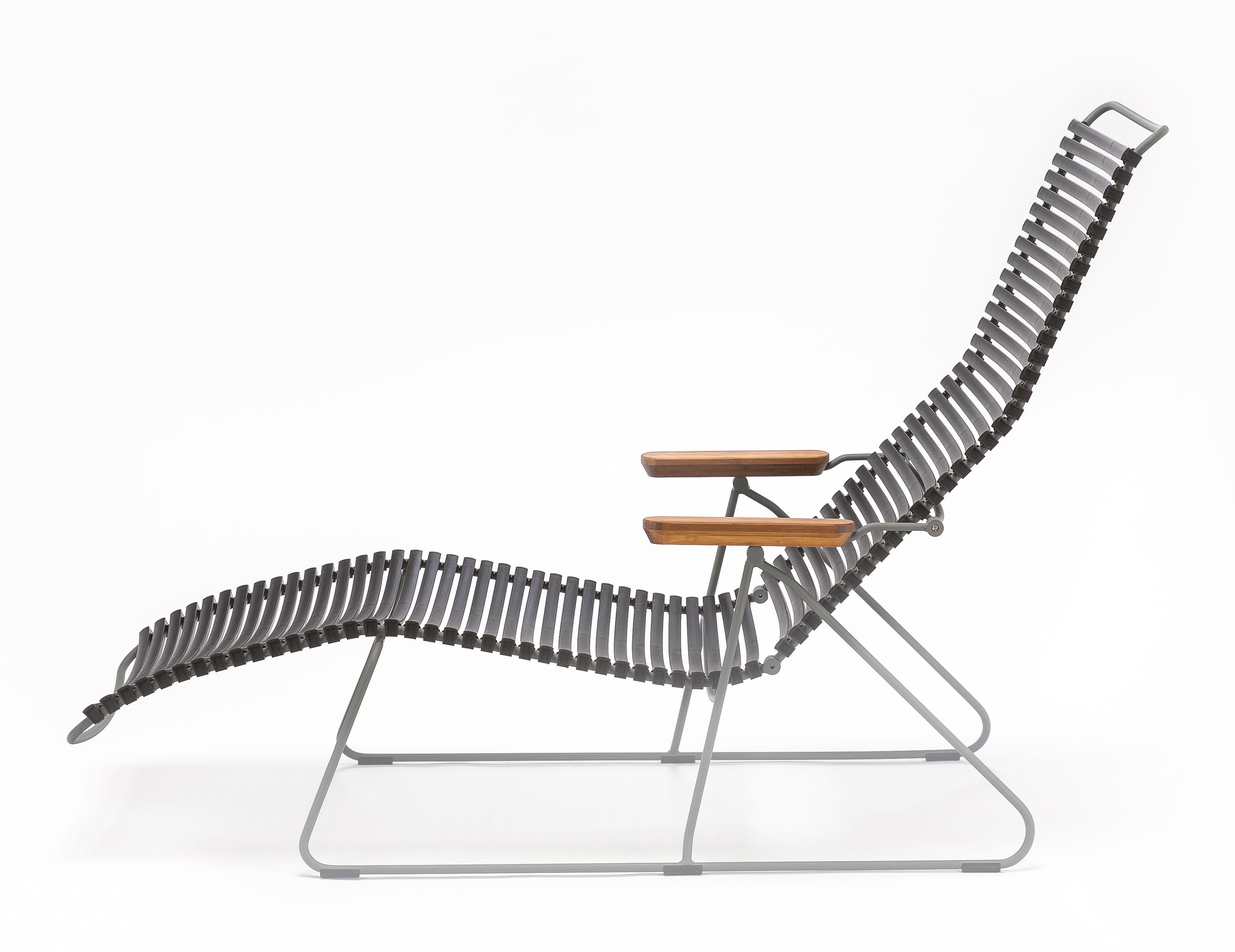 Sdraio In Plastica Verde.Click Chaise Longue Schienale Multiposizioni Verde Oliva By Houe