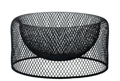 Arts de la table - Corbeilles, centres de table - Corbeille Wire bowl / Ø 24 cm - Résille de métal - Bolia - Noir - Résille d'acier