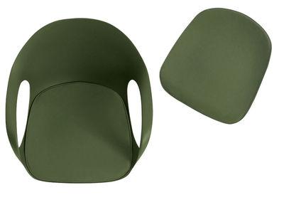 Coussin d'assise / Pour fauteuil Elephant - Kristalia vert en tissu