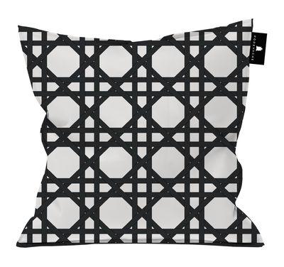 Déco - Coussins - Coussin d'extérieur Cannage / Polyester - 55 x 55 cm - PÔDEVACHE - Noir -  Micro-billes EPS, Polyester