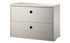 String® System Crate - / 2 drawers - L 58 x D 30 cm by String Furniture