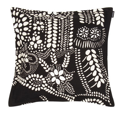 Decoration - Cushions & Poufs - Näsiä Cushion - / 40 x 40 cm by Marimekko - Näsiä / Black & white - Cotton, Linen