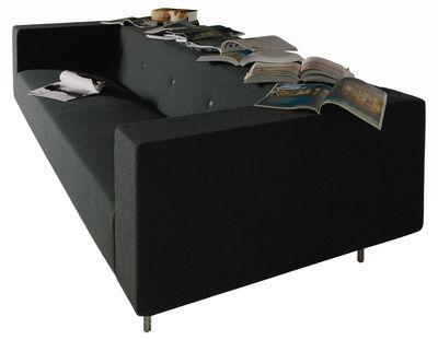 Arredamento - Divani moderni - Divano destro Bottoni Shelf - 3 posti di Moooi - Nero antracite - Lana