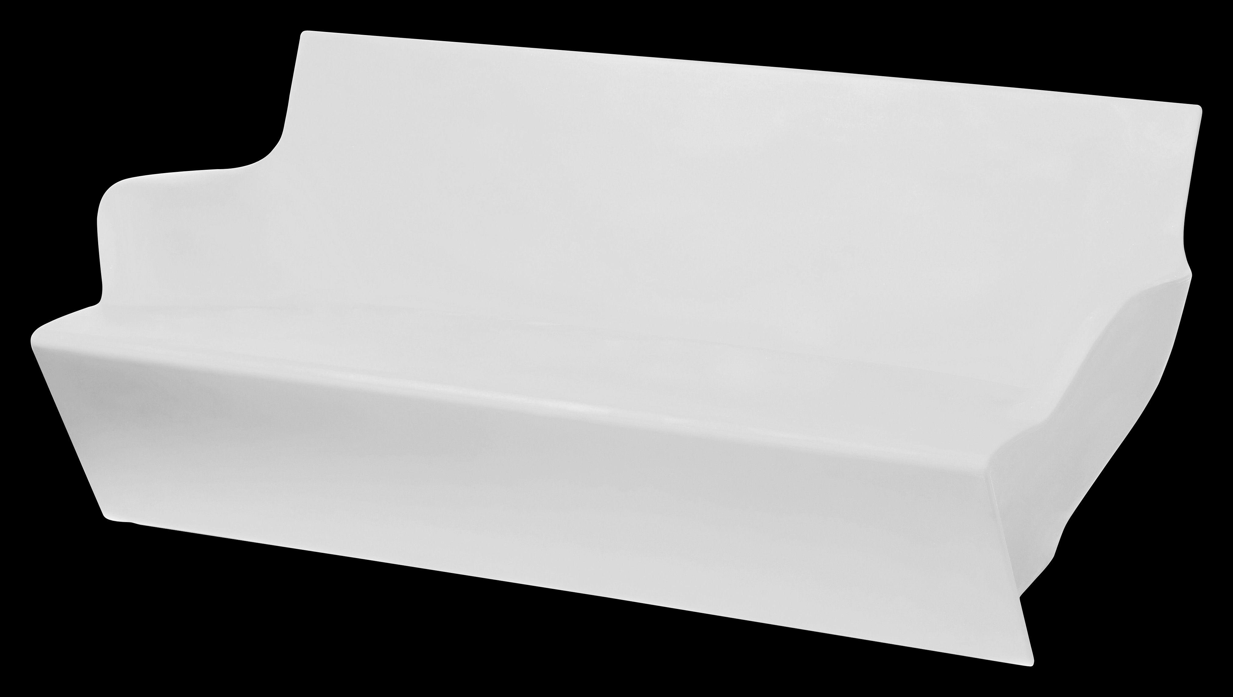Arredamento - Mobili luminosi - Divano luminoso Kami Yon di Slide - Bianco luminoso - polietilene riciclabile