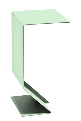 Furniture - Coffee Tables - Mark End table - L 27  x H 51 cm by Moroso - Light green - Varnished steel