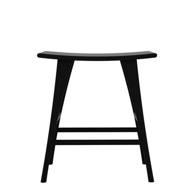 Furniture - Bar Stools - Osso High stool - / Solid oak - H 61 x L 57 cm by Ethnicraft - Black - Solid oak